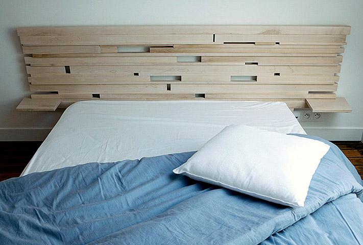 tete de lit creation. Black Bedroom Furniture Sets. Home Design Ideas